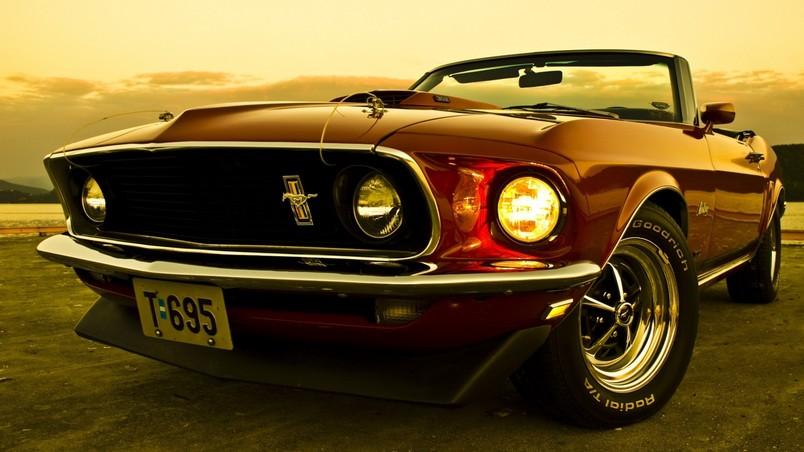 1969 Ford Mustang Convertible Hd Wallpaper Wallpaperfx