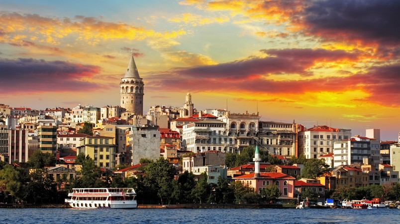 Sunset in Istambul wallpaper