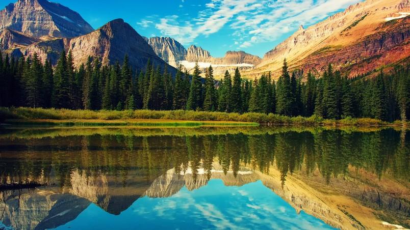 glacier national park landscape hd wallpaper wallpaperfx