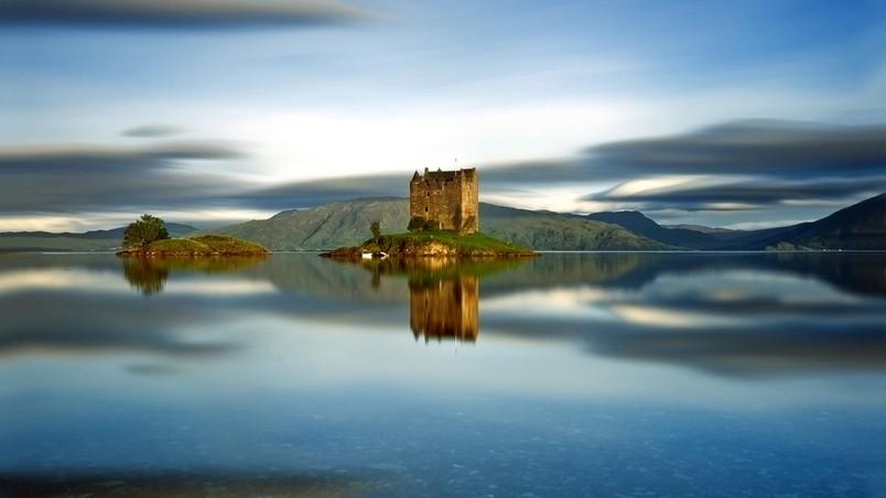 Castle Stalker Scotland Hd Wallpaper Wallpaperfx