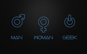 Man Woman and Geek wallpaper