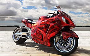 Gorgeous Red Motorcycle wallpaper