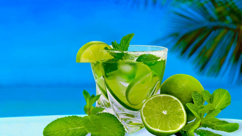 lime summer cocktail hd wallpaper