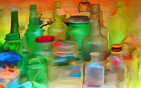 Bottles and Jars wallpaper