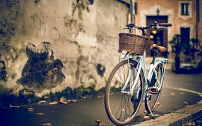 Vinatge Woman Bike wallpaper