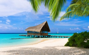 Bungalow in Maldives wallpaper