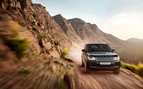 New Black Range Rover on Speed wallpaper