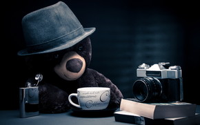 Coffee Time for Teddy Bear wallpaper