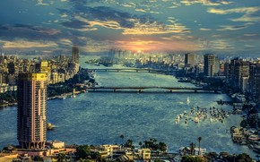 The River Nile in Cairo wallpaper