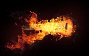 Fire Guitar Art