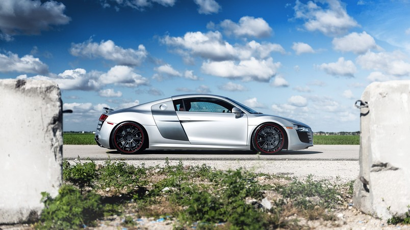 Gorgeous Grey Audi R8 Wallpaper