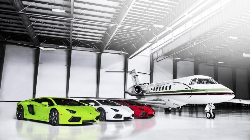 Private Plane With Garage : Luxury private garage hd wallpaper wallpaperfx
