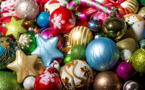 Colorful Christmas Globe Collection wallpaper