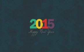 2015 Minimalistic New Year wallpaper