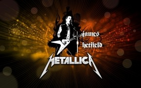 James Hetfield Metallica Poster wallpaper