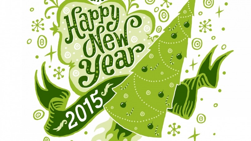 Green Happy New Year  wallpaper