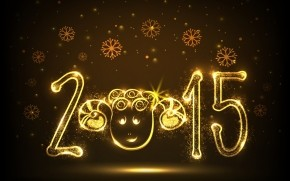 New Year Funny Face wallpaper