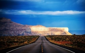 Arizona Road HDR wallpaper