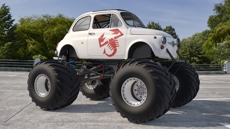 Old Fiat 500 Large Wheels Hd Wallpaper Wallpaperfx