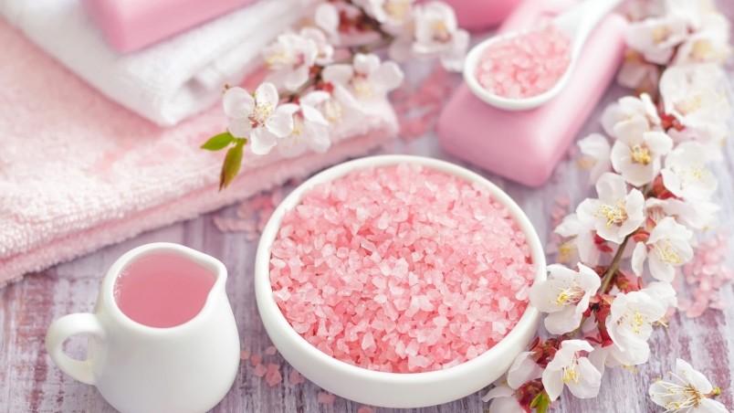 Spa Pink Sea Salt HD Wallpaper WallpaperFX