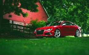 Red Audi RS7 wallpaper