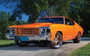 Orange Chevrolet Chevelle wallpaper
