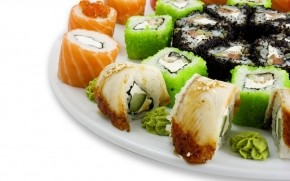 Mixed Sushi Plate wallpaper
