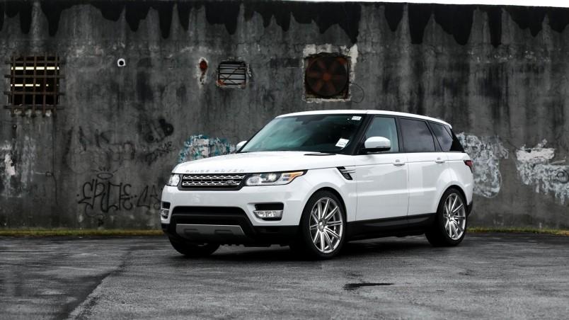 Gorgeous White Range Rover Sport Hd Wallpaper Wallpaperfx