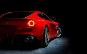 Red Ferrari F12 Berlinetta wallpaper