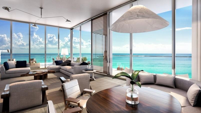 Living room beach residences hd wallpaper wallpaperfx for Living room 640x1136
