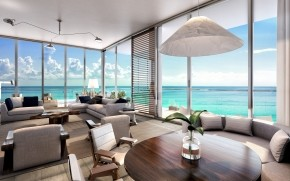 Living Room Beach Residences wallpaper