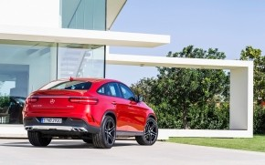 Mercedes Benz GLE Coupe Back View wallpaper