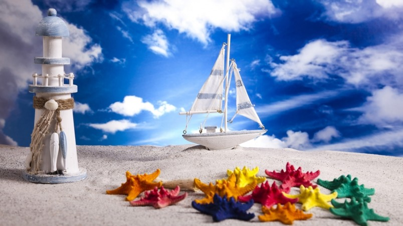 Summer Beach Miniature Wallpaper