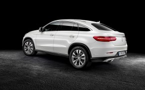 White Mercedes Benz GLE Coupe wallpaper