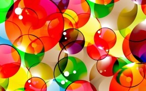 Abstract Colorful Bubbles wallpaper