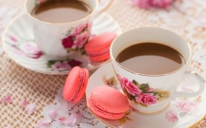 Coffee and Macaroons wallpaper