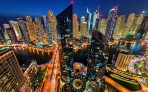 Night in Dubai wallpaper
