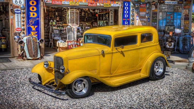 Classic Yellow Ford wallpaper