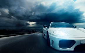 Ferrari 360 White wallpaper