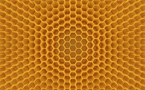 Abstract Honeycomb Structure wallpaper