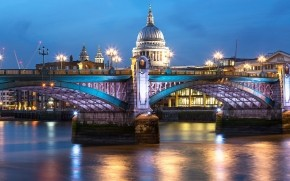 Blackfriars Bridge London wallpaper