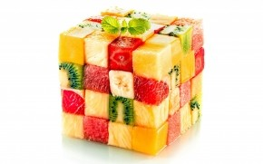 Fruit Salad Cube wallpaper