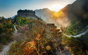 The Great Wall of China Landscape wallpaper