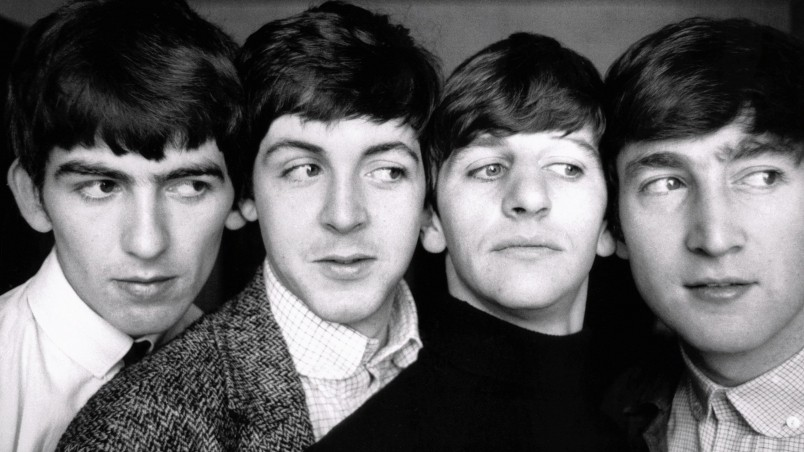 The Beatles Black And White Wallpaper