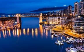 Vancouver Canada Night View wallpaper