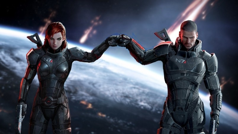Mass Effect Jane and John Shepard wallpaper