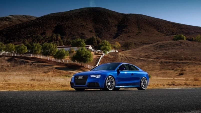 Blue Audi Rs5 Sport Car Hd Wallpaper Wallpaperfx