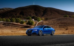 Blue Audi RS5 Sport Car wallpaper