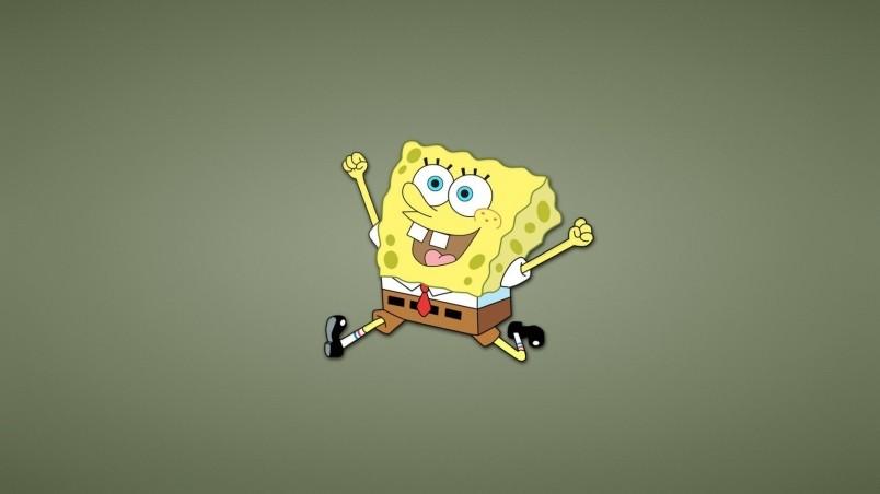 Happy Spongebob Squarepants Hd Wallpaper Wallpaperfx