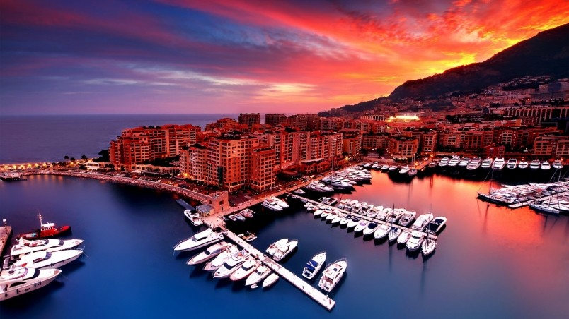 Sunrise in Monaco wallpaper